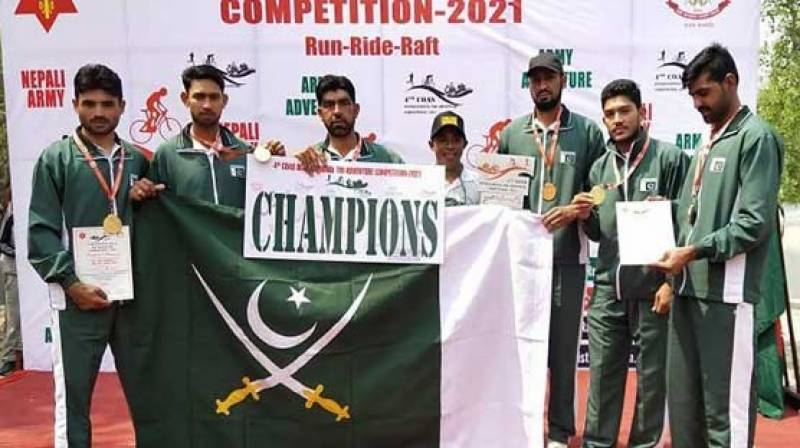 Pakistan Army team wins gold medal in Nepal adventure contest