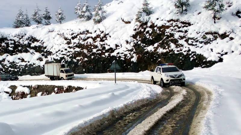 Shangla shivers as heavy snowfall blankets valley