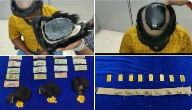 Two arrested for attempting to smuggle gold by hiding it in wigs