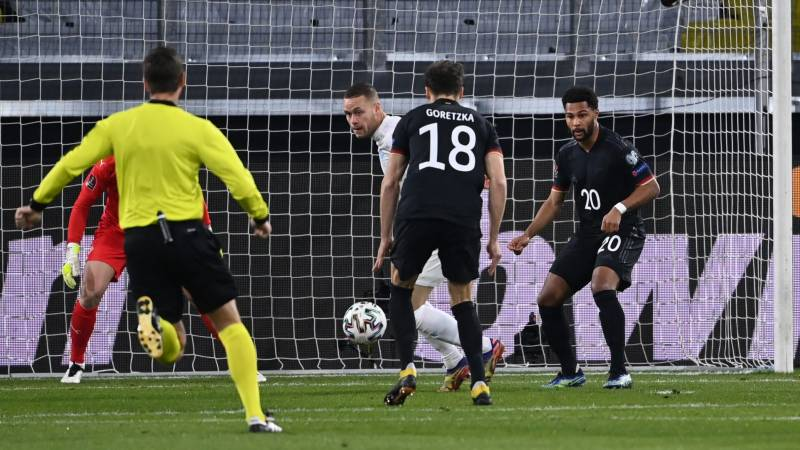 Germany cruise past Iceland after DIY 'Human Rights' protest