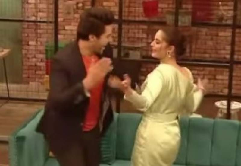 Minal Khan and Saboor Aly perform 'flashy dance moves' in a show