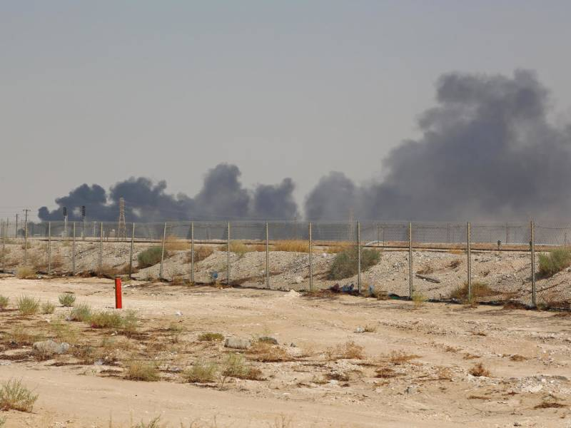 Saudi oil terminal on fire as Huthis escalate attacks