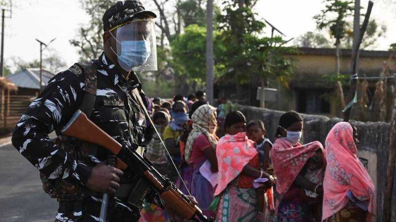 One dead, bombs thrown as restive Indian state votes