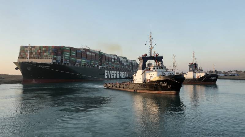 Mega-ship in Suez Canal moved '80%' in right direction