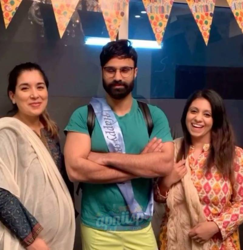 Comedian Rahim Pardesi celebrates birthday accompanied by not one but two wives