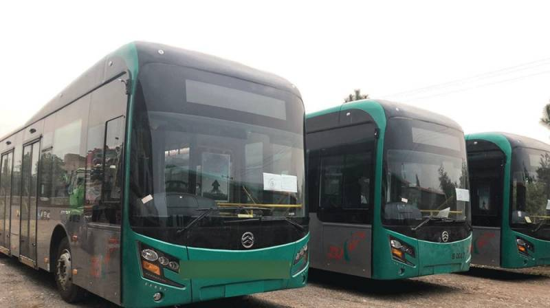 30 new buses for BRT, Peshawar reach Pakistan