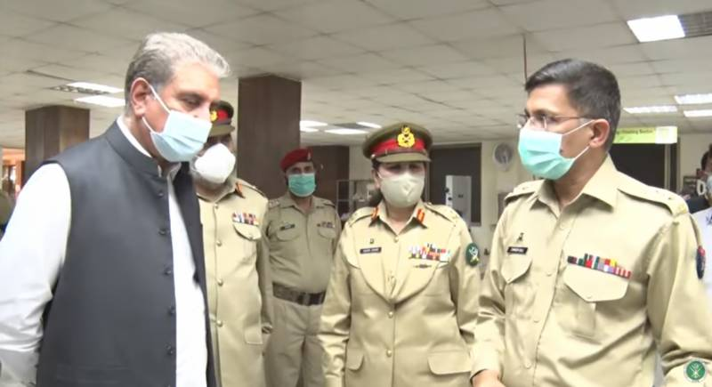 FM Qureshi meets war wounded soldiers during visit to AFIRM