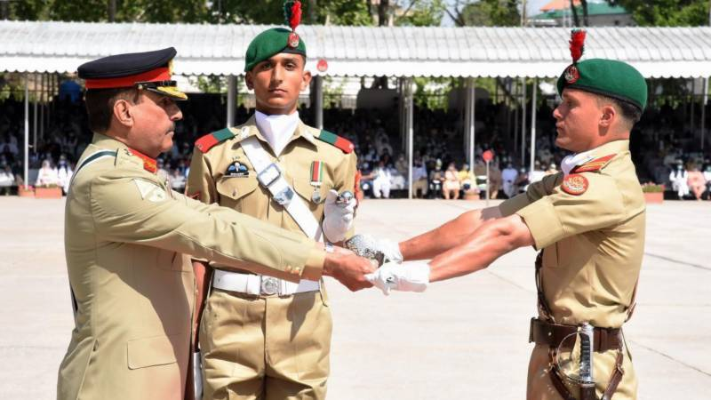 Passing out parade of cadets held at Kakul Academy