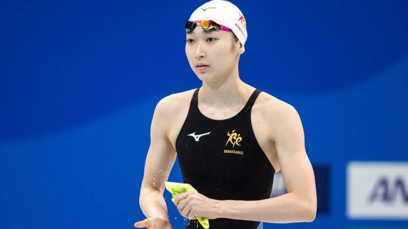 Japan swimmer Ikee claims clean sweep but misses Olympic spot