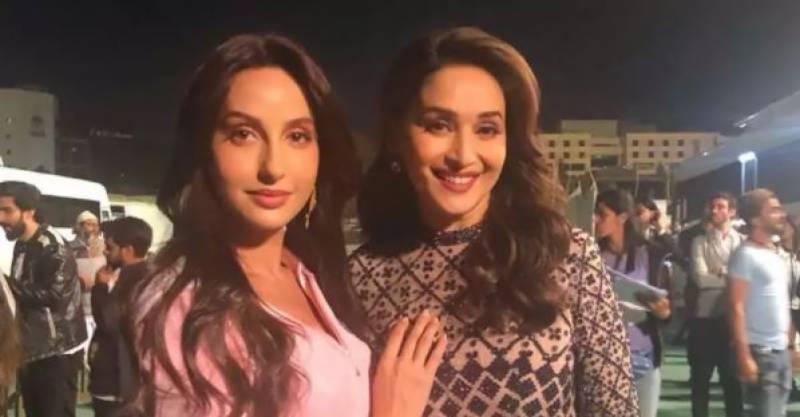 Nora Fatehi and Madhuri Dixit's dance video goes viral