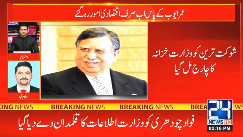 Shaukat Tarin becomes new finance minister as PM reshuffles cabinet