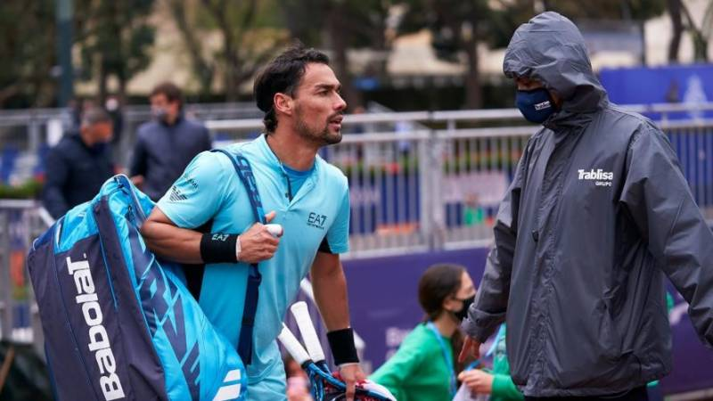 Fognini disqualified in Barcelona for abusing official