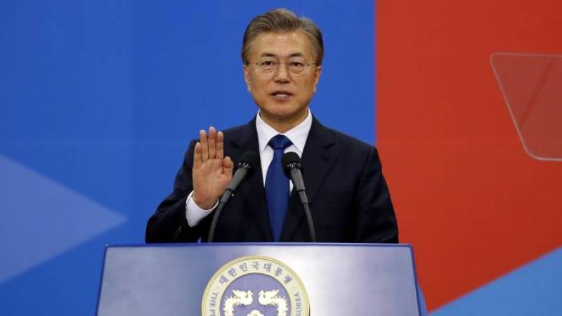 SKorea's Moon urges Biden to engage directly with NKorea