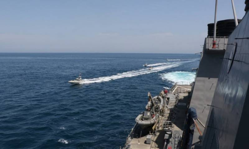 Iranian warships 'aggressively' approached US vessels