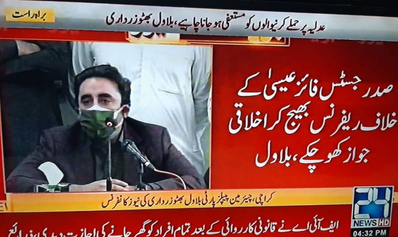 Bilawal asks President, PM, cabinet to resign over Justice Isa's issue