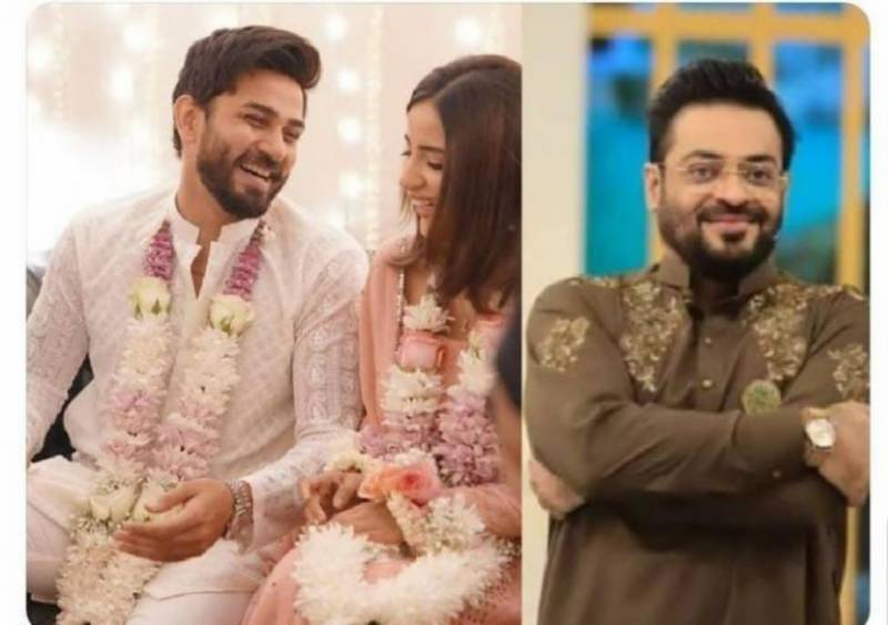 'Baba' Aamir Liaquat already predicted Saboor Aly and Ali Ansari will get hitched