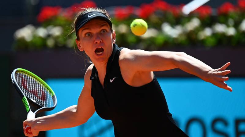 Halep knocked out of Madrid Open, Sinner and Rublev through