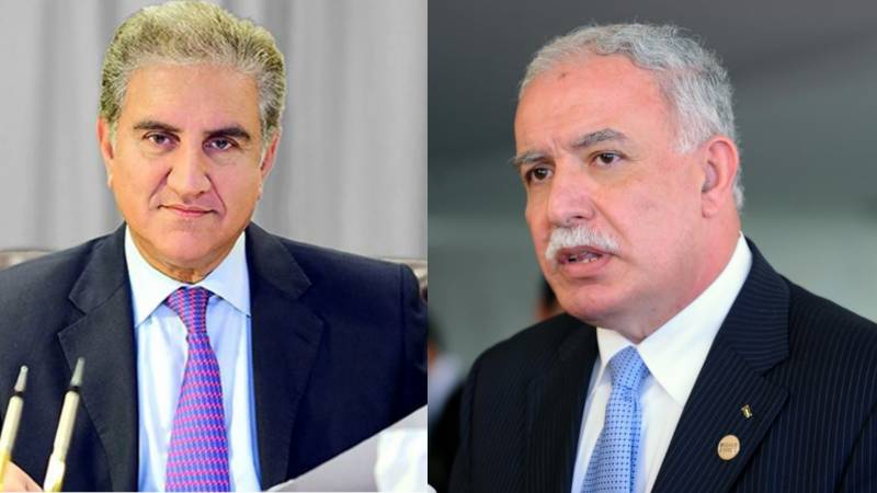 FM Qureshi assures full support to Palestinian counterpart on phone