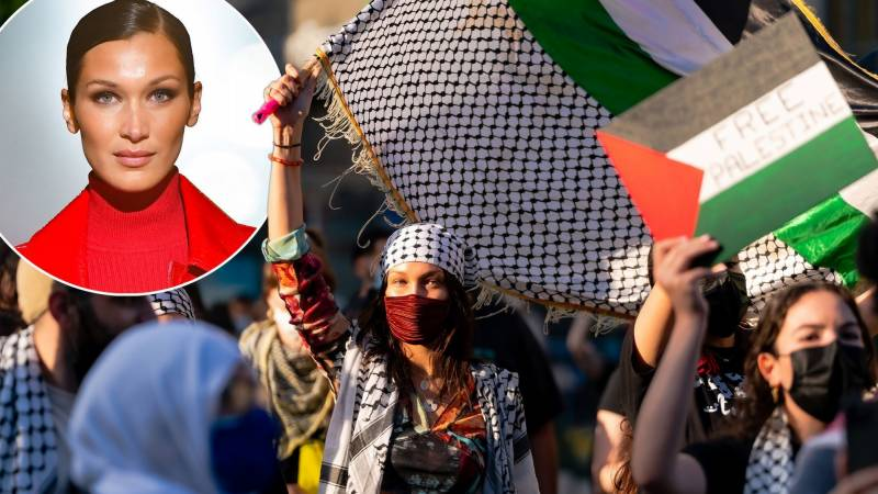 Bella Hadid leads protest march for her country of origin: Palestine