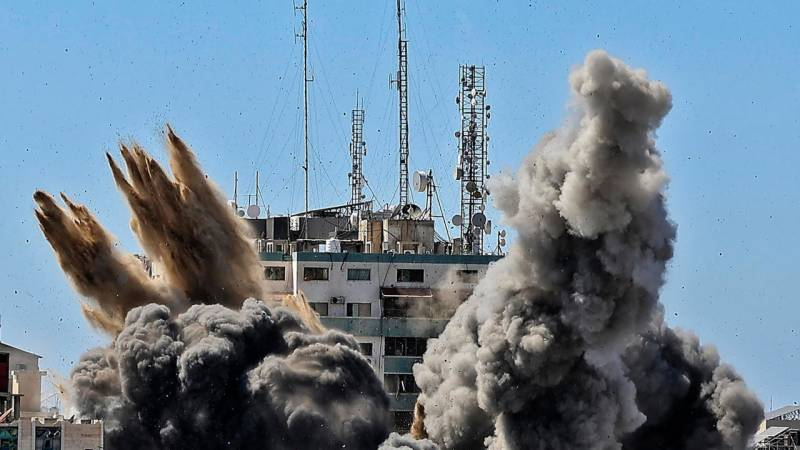 Gaza media building owner complains to ICC: lawyer