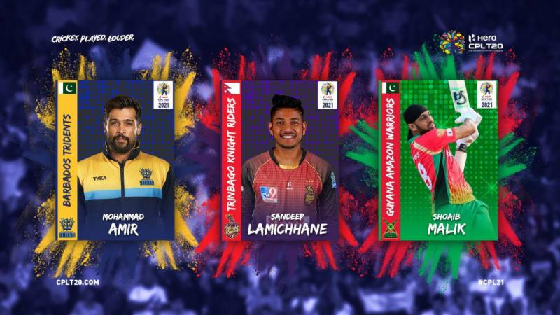 Amir, Malik and Lamichhane sign for CPL