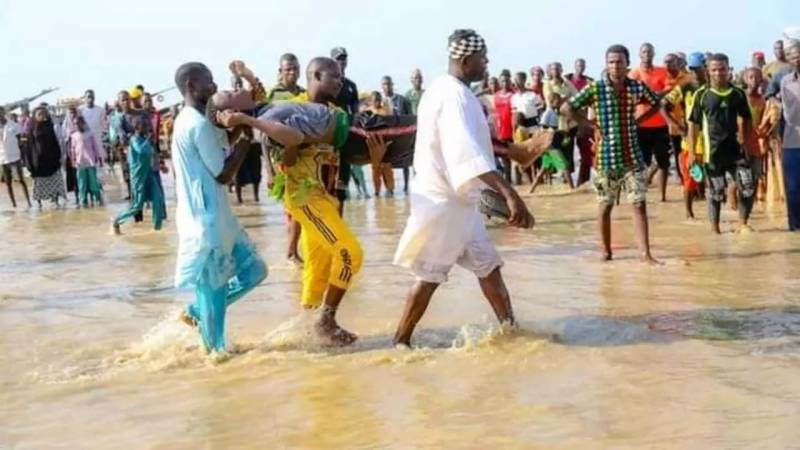 Nigerian rescuers pull dozens of bodies from water after boat tragedy