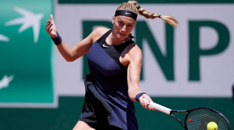 Kvitova out of French Open after press conference ankle injury