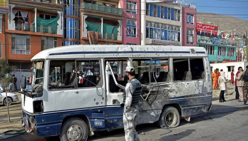 Eight killed in double Afghan minibus blasts