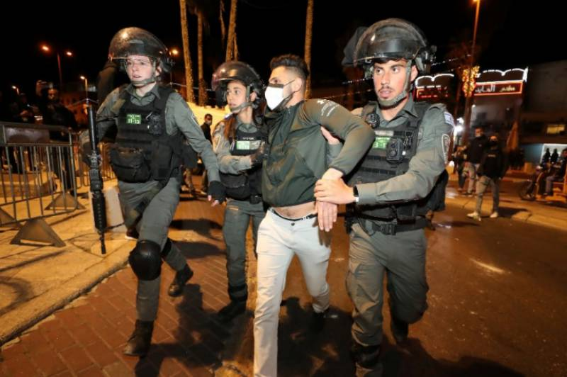 Fourteen Palestinians arrested after Israeli MP's rally: police
