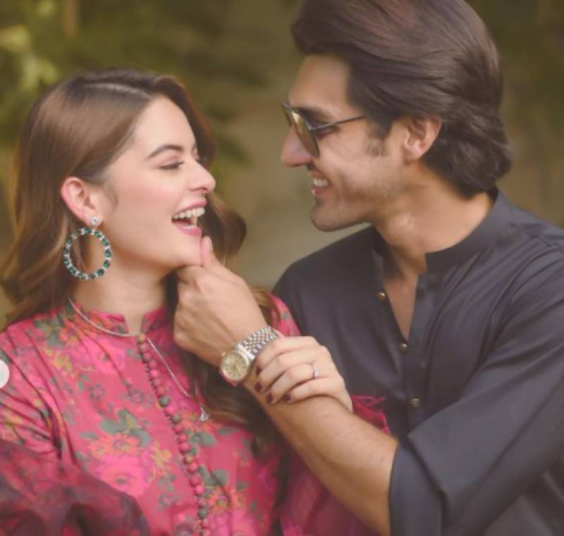 Wedding bells set to ring for Minal Khan and Ahsan Mohsin Ikram