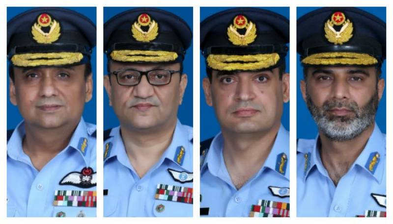 Govt promotes four PAF officers to air vice-marshal