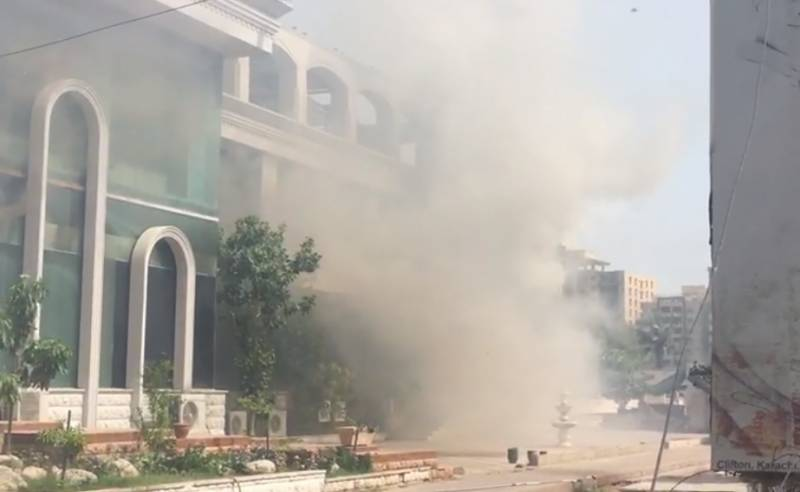 Bilawal House's media cell catches fire in Karachi