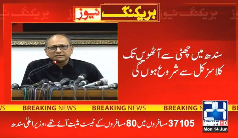 Classes for grades 6 to 8 reopen in Sindh from today