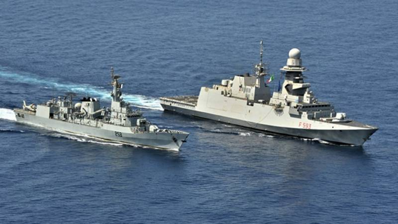 PNS SAIF participates in passage exercise with Italian Navy Ship