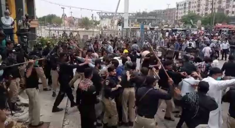 Several arrested in anti-encroachment operation in Karachi