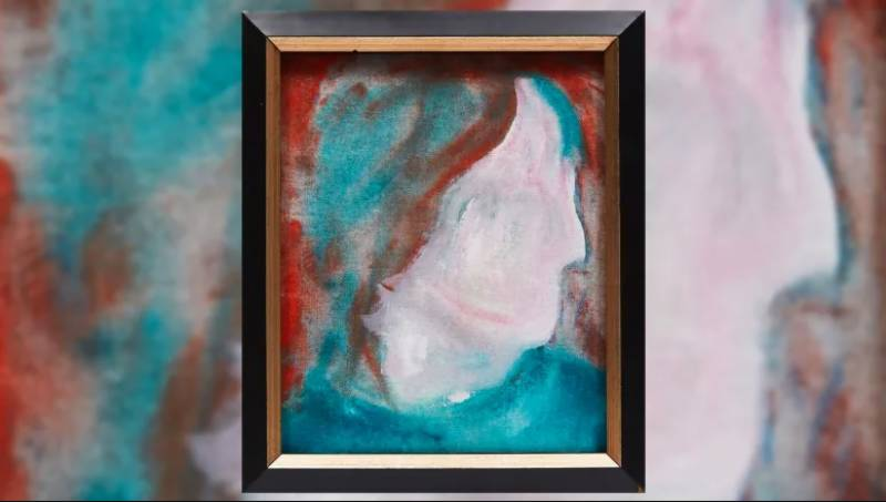 David Bowie painting from donation bin up for auction