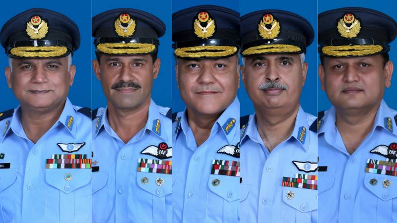 Five PAF officers promoted to rank of Air Vice Marshal
