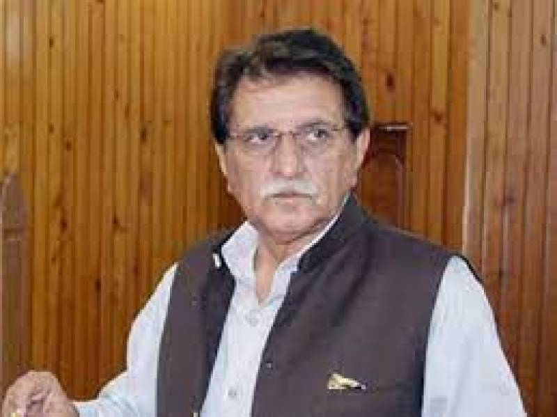 AJK PM suggests ban on wall chalking, posters supporting Pakistani politicians