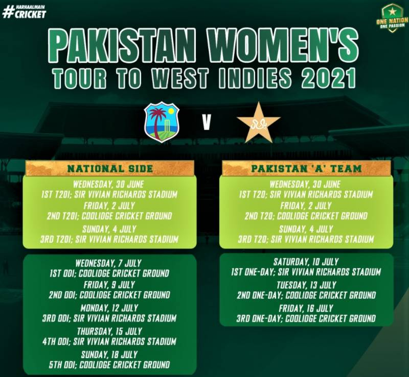 Pakistan women cricketers to tour West Indies