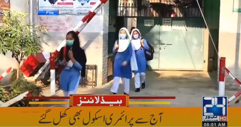 Primary class students back to school across Sindh