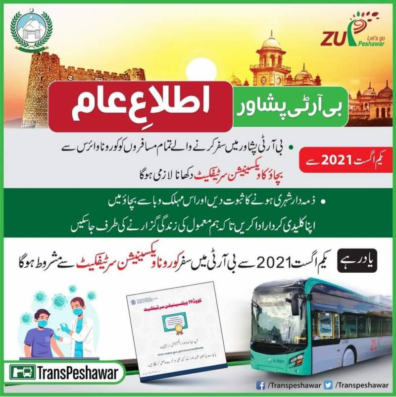 Vaccination certificate must for traveling on BRT