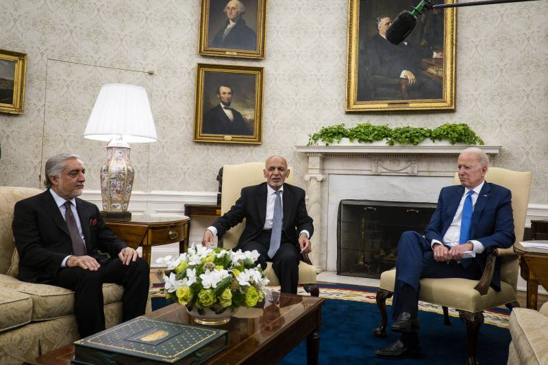 President Biden rules out slowing down US exit from Afghanistan