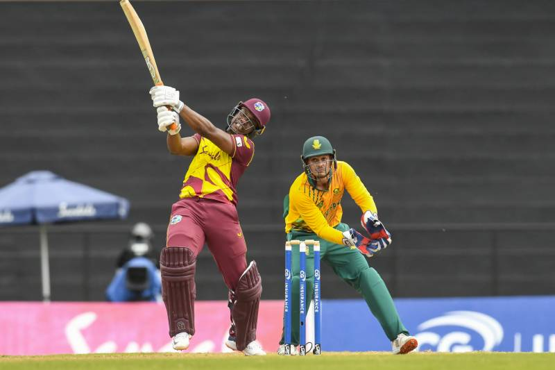 Lewis blasts Windies to eight-wicket win over South Africa