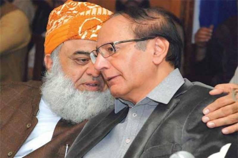 Ch Shujaat telephones Maulana Fazl to inquire after his health