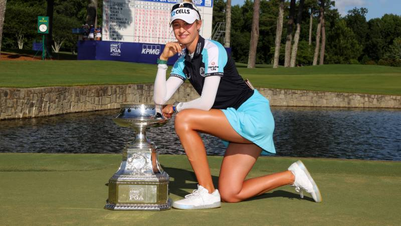 Nelly Korda wins Women's PGA title to become World No.1