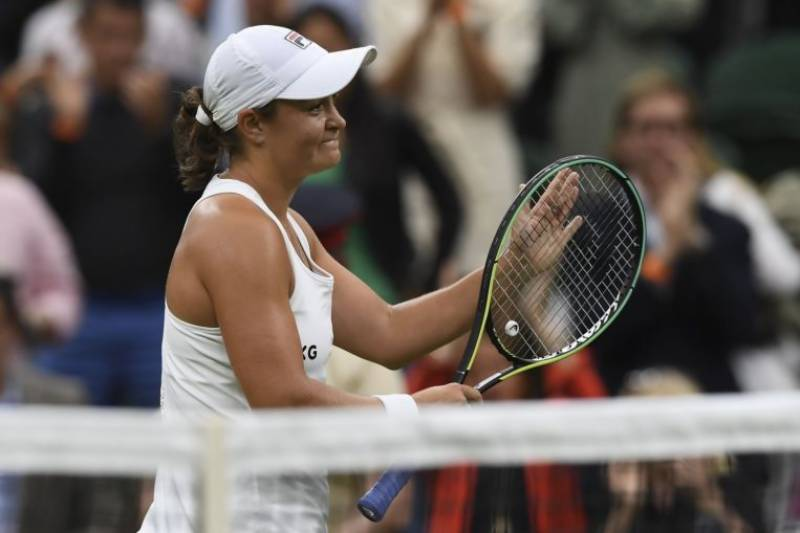 Barty goes through after wobble in emotional first round Wimbledon clash