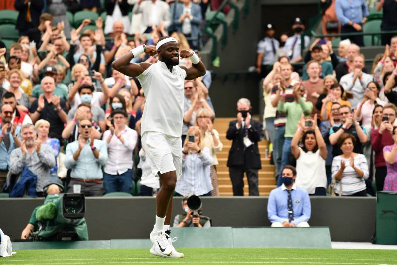 Tennis life is peachy for Tiafoe after Tsitsipas victory