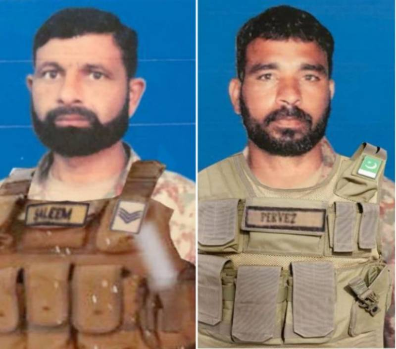 Two Pakistan soldiers martyred in Afghan border fire