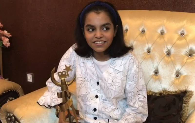 12-year-old Saba Fatima becomes youngest filmmaker, receives award