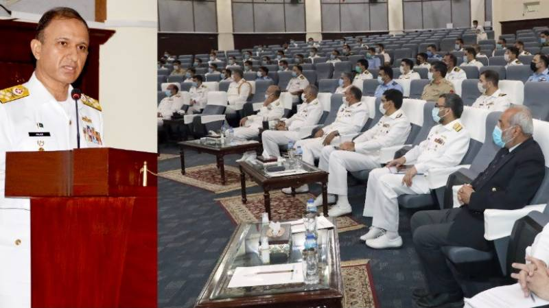 Chief of the Naval Staff visits Pakistan Navy War College Lahore